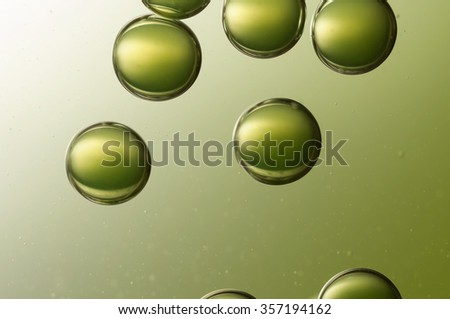 A group of green air bubbles  - stock photo