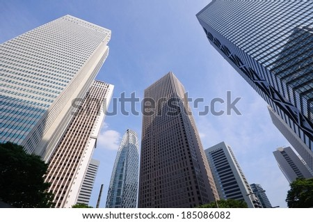 A group of skyscrapers. - stock photo