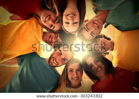 A group of smiling people