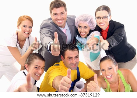 A group of successful workers - stock photo