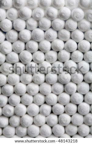 a group of usual white swabs close up - stock photo