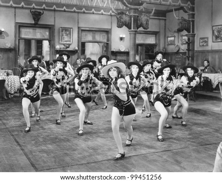 A group of women dancing