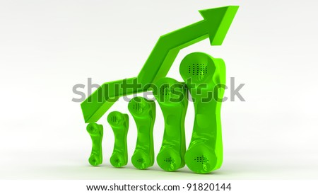 A growth in telecommunication business concept - stock photo