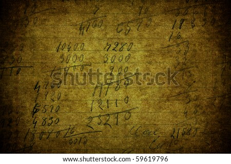 A grunge image with a text on paper - stock photo