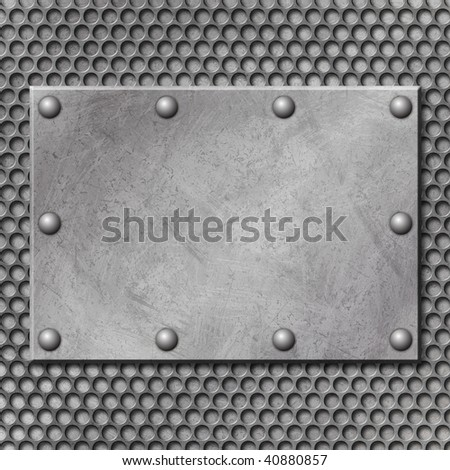A Grunge Metal Background with Mesh - stock photo