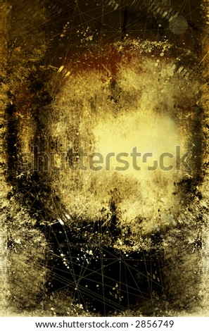 a grungy/gold coloured background with scratches finger prits etc - stock photo