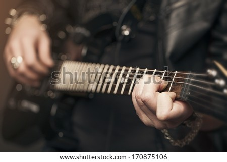 A guitarist - stock photo