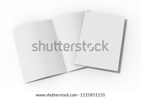 A 4 Halffold Brochure Blank White Template Stock Illustration