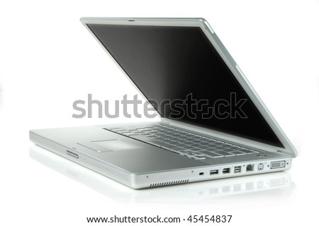 A half open laptop