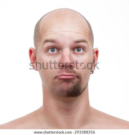 a half-shaven - stock photo
