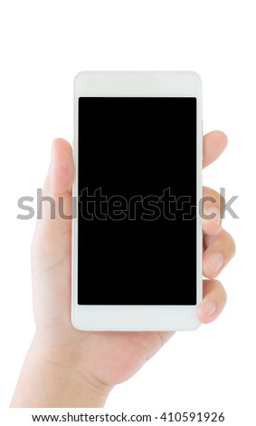 a hand of woman use mobile phone - stock photo