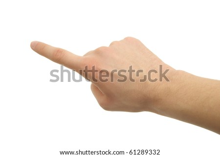 a hand photo, gesture - stock photo