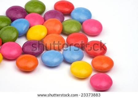 a handful of chocolate candy - stock photo