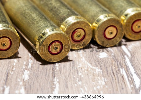 a handful of the used shell casings