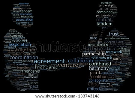 A handshake in text graphics - stock photo