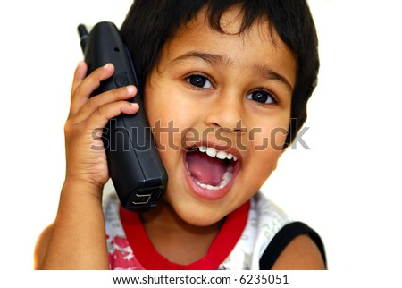A handsome young boy taking passionately on phone