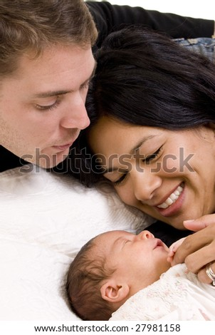 A happy family. Bonding, Love, marriage, children - stock photo