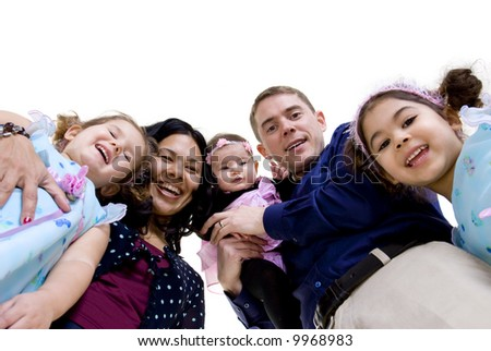A happy family. Bonding, Love, marriage, children - stock photo