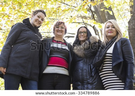 A Happy family of mother with three daughters