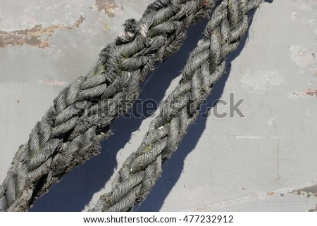 a hawser - a ship rope; background