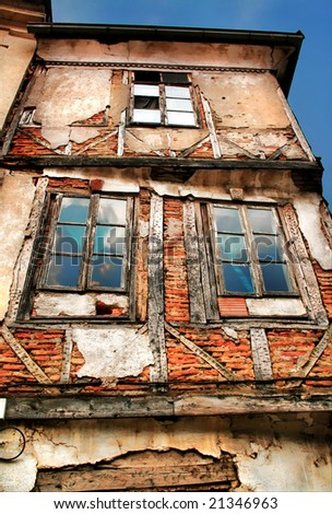 A HDR photo od an abandoned old house in Struga, Macedonia - stock photo