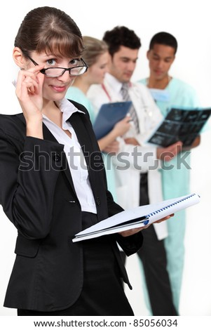 A health inspector - stock photo
