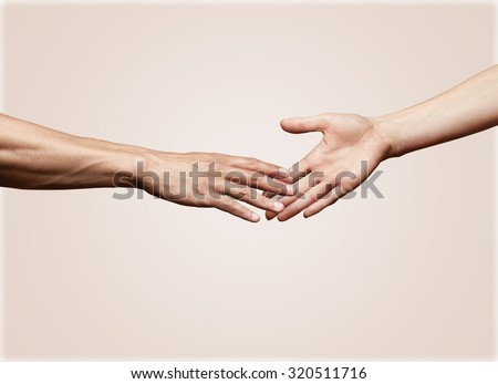 A Helping Hand. - stock photo