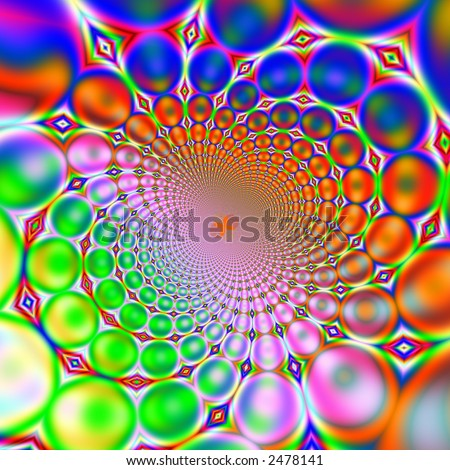 A high resolution, computer generated, fractal design that simulates a retro background. - stock photo