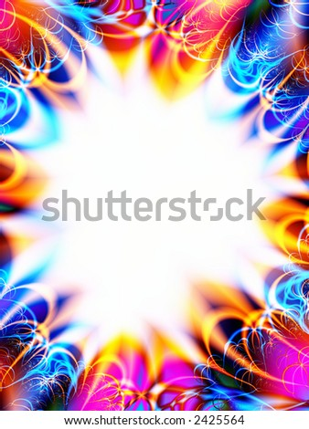 A high resolution, computer generated, fractal design that simulates an invitation or greeting card design for a celebration (such as an anniversary, birthday, shower, or engagement). - stock photo