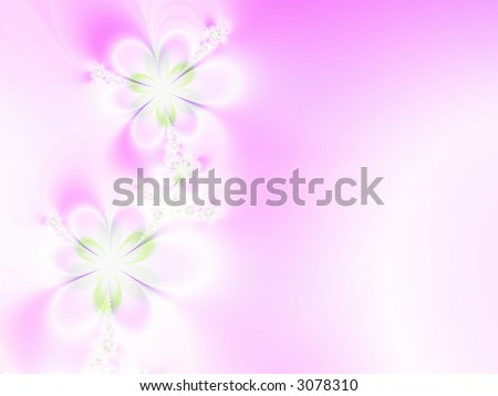 A high resolution, fractal simulating a flower invitation for weddings, showers, or other special events (such as Mother's Day, Easter, or Valentine's Day).