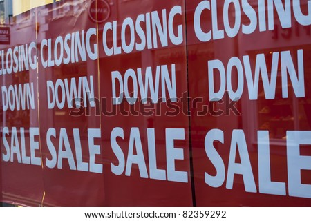 A high street store that is closing down - stock photo