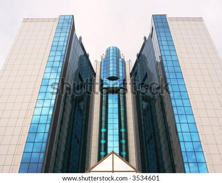 a high tech building - stock photo