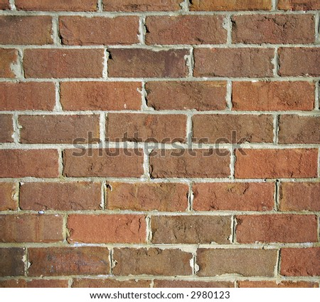 a highly textured brick wall with grey mortar
