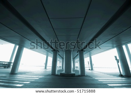 A highway bridge - stock photo