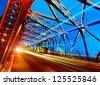 A historic bridge at Shanghai bund night - stock photo