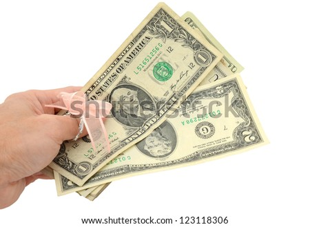 A holding lucky money of cash