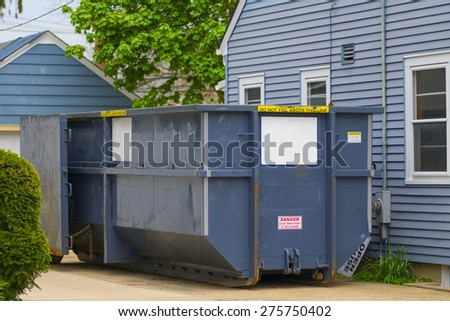 A home being worked on for sale. - stock photo