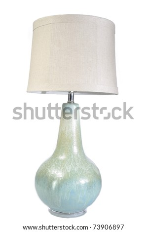 A home lamp with shade - stock photo