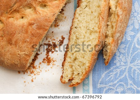 A homemade bread with spices - stock photo