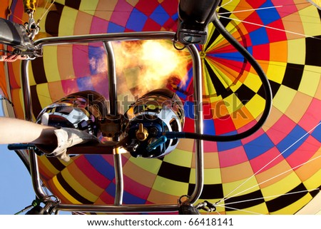 a hot air balloon during a festival event - stock photo