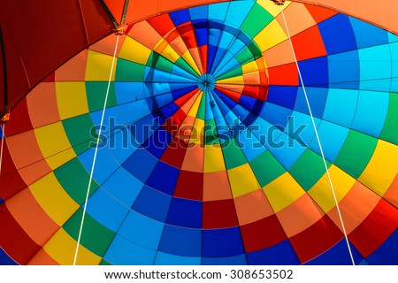 A hot air balloon, outdoor. - stock photo