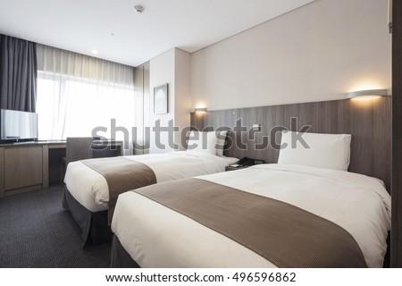 Interior bedroom guest house stock photo 440551750 for Design hotel korea