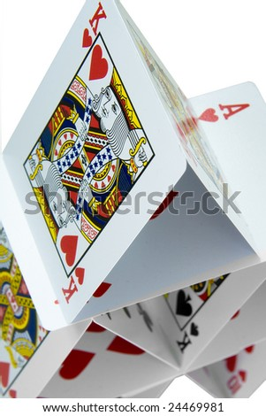 a house of cards - stock photo