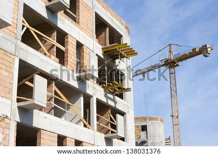 A housing development still under construction - stock photo