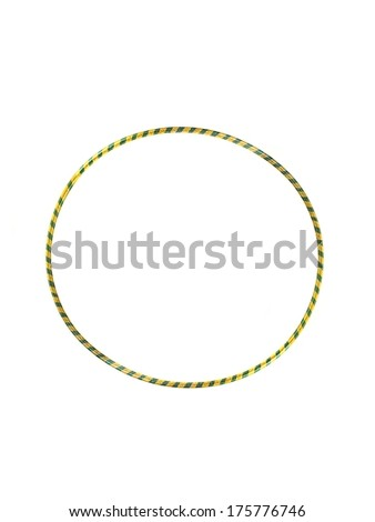A hula hoop isolated against a white background - stock photo