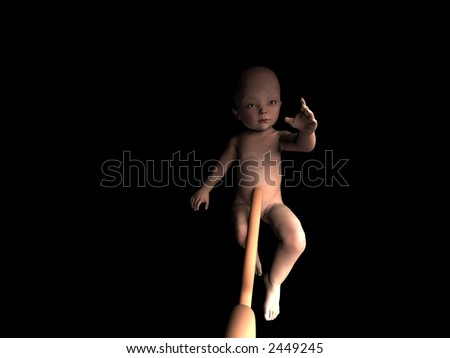 A image of a baby in its mothers womb. - stock photo