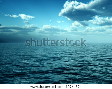 A image of a scenic seascape or lake background. - stock photo