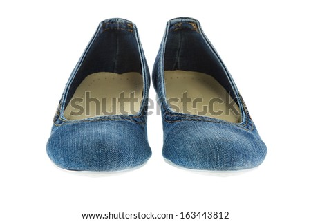 a image of blue jeans women fashion slippers