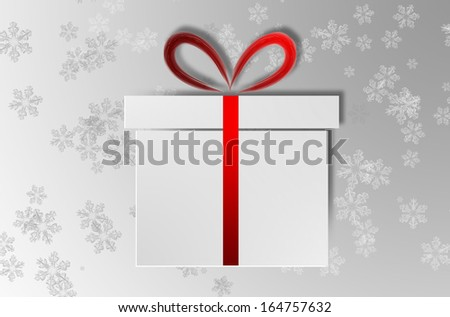 A isolated gift box with red tape for Christmas