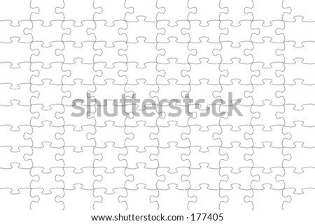 A jigsaw puzzle pattern. - stock photo